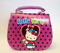 "Сумка детская ""Hello Kitty"" с  ремешком через плечо сиреневого цвета"