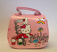 "Сумка детская ""Hello Kitty"" с  ремешком через плечо розового цвета"