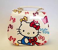 """Сумка детская """"Hello Kitty"""" с  ремешком через плечо белого цвета"""