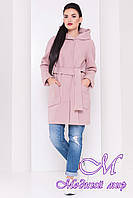 Женское кашемировое пальто с капюшоном (р. S, M, L) арт. Анита 16858