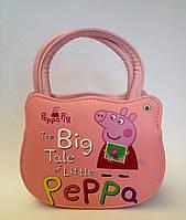 Сумка детская свинка Пеппа  с  ремешком через плечо розового цвета