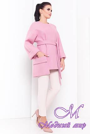 Женское нежно-розовое осеннее пальто (р. S, M, L) арт. Кадис 16884, фото 2