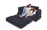 Надувной диван трансформер 2 в 1: Intex, 68566 (193*231*71 см)