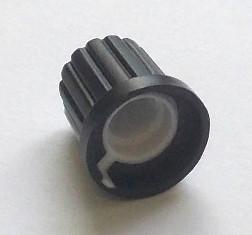 Ручка потенциометра черная с белой полосой