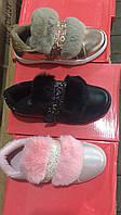 Детские кроссовки с мехом для девочек Размеры 31-36