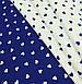 Хлопковая ткань польская сердца мелкие белые на синем №558, фото 4