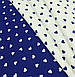 Хлопковая ткань польская сердца мелкие синие на белом №557, фото 5