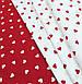Хлопковая ткань польская сердца мелкие белые на красном №556, фото 5