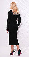 Платье длинное с разрезом черное