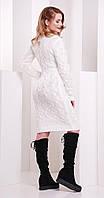 Платье короткое вязаное белое