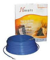 Кабель нагревательный одножильный 5,9-7,4 м.кв (1000Вт) Nexans TXLP/1R 17Вт/м (теплый пол)