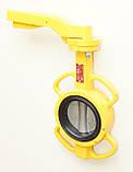 Задвижка поворотная Баттерфляй для газа AYVAZ тип KV9 Ду100 Ру16 диск чугун, фото 5