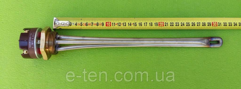 Тэн нержавейка для чугунной батареи 1200W резьба 1 1/4 (Украина) с итальянским термостатомReco(с термозащитой)
