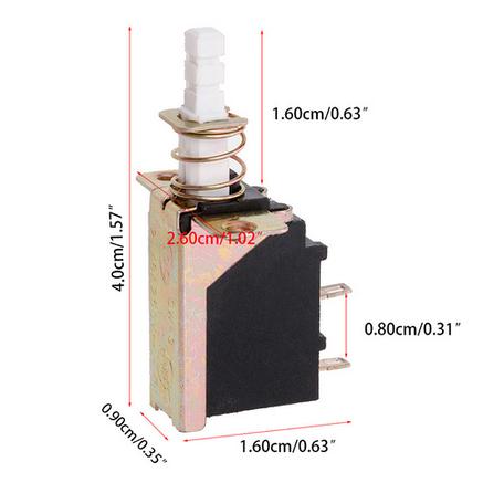 Кнопка питания SW-3 AC 250 В 2A/8A SPST, фото 2