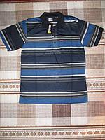 Мужская футболка-поло в полоску размер 48-50