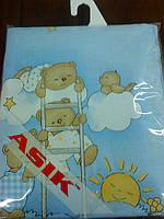 Сменная постель «мишки на лестнице» голубого цвета №42