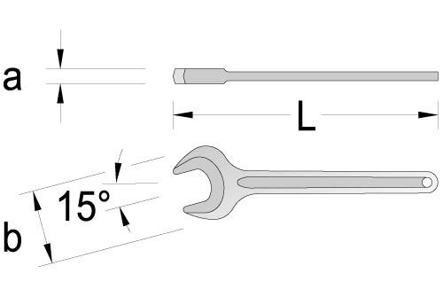 Ключ торцевий односторонній 41мм.