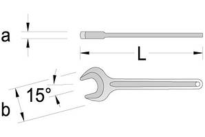 Ключ торцевой односторонний 41мм.