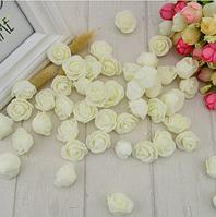 Роза из латекса, молочная,   2,5-3 см