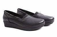 Туфли женские Ripka натуральная кожа, цвет черный (платформа, комфорт, Турция)