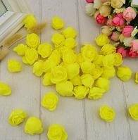 Роза из латекса, желтая  2,5-3  см