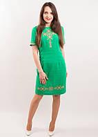 """Вишите плаття """"Вишуканість"""" (зелене)"""