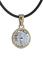 "Кулон ""Альхена"" с кристаллами Swarovski, покрытый золотом  (b022p900)"
