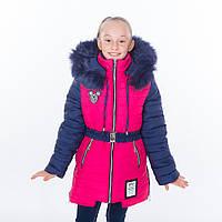 """Зимняя куртка - пальто для девочки """"Ушки"""" Разные цвета"""