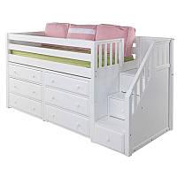 Детская кровать-чердак с местом для хранения