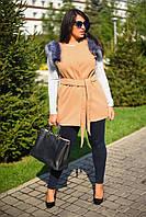 Женская жилетка с мехом 8005.4 ВМ