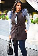 Женская жилетка с мехом 8005.6 ВМ