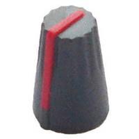 Ручка потенциометра серая с красной полосой, D=13,5mm, H=20mm