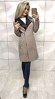 Женское классическое пальто бежевое ,пальто бордовое