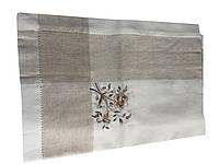 Льняная скатерть с вышивкой 160-300 см