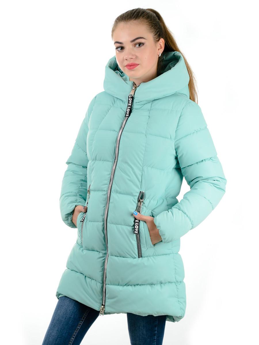 Пальто- пуховик женский Irvik Z22156 мятный - Интернет-магазин одежды в  Харькове 78c93cb8c26ed