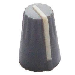Ручка потенциометра серая с белой полосой, D=13,5mm, H=20mm