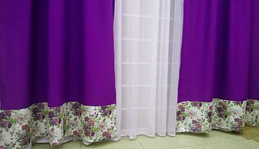 """Готовый комплект штор """"Маргарита """" Фиолетовый, фото 3"""