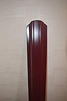 Штакетник тип 2 (98мм) бордовый 1,25м