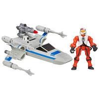 Транспортное средство вселенной Звёздные Войны Resistance X Wing & Resistance Pilot Star Wars Hasbro (B3702)