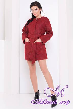 Женское короткое демисезонное пальто (р. S, M, L) арт. Даная 16866, фото 2