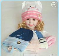 Детская теплая шапка для мальчика и девочки 38-42