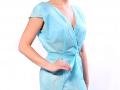 Одноразовый халат спанбонд голубой 1 шт