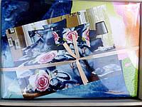 Постельное белье 3D Розовые розы микросатин в подарочной упаковке
