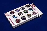 Набор ромбиков для дизайна ногтей, цветные 12 шт, фото 1