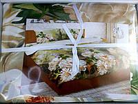 Постельное белье 3D Лилии микросатин в подарочной упаковке