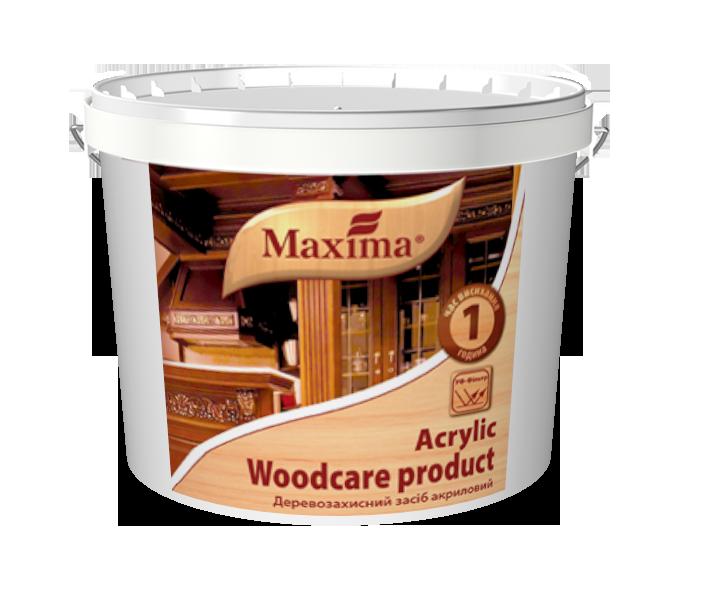 Деревозащитное средство акриловое с УФ-фильтром Maxima, тиковое дерево 20 л