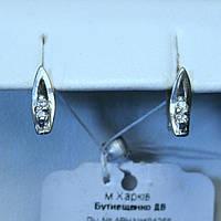 Детские серебряные сережки с фианитом сс 340