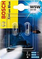 Комплект безцокольных ламп W5W 12V 5W /Xenon Blue/ - на Renault Trafic 2001-> - Bosch - 198730103