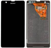 Дисплей Sony C5503 Xperia ZR Сони (M36h), C5502 (M36i) с тачскрином в сборе, цвет черный