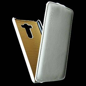 Чехол книжка для LG G3 D855 вертикальный флип, Prestigious Белый